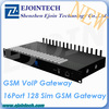 2014 New Arrival Ejoin GoIP 16-128 gateway, 16 channel 128 sim Gsm VoIP Gateway free registration