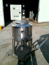 Small electrical heating pasteurization milk tank