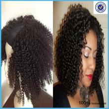 Alibaba express Upart wig!!! Mongolian Kinky Curly human hair u part wig 2*4 u parts wigs