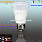 Smart light AC85-265v e27 8W led bulbs brightness dimmable led bulb wifi control