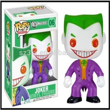 custom FUNKO POP OEM vinyl toy production,oem Batman joker vinyl figure toy, make your own vinyl toy