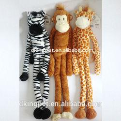 Long Arms & Legs Zebra, Monkey, Giraffe, Plush Animal Dog Toys