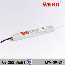WEHO 30W single output waterproof power input 220v ac 24v dc power supply