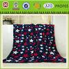 Five-point star printed flannel fleece blanket