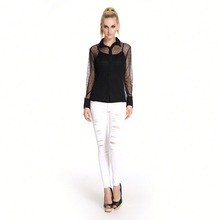 Excellent Quality New Pattern Sexy Neck Design Of Blouse