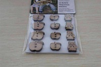 plain wood buttons for premade flowers