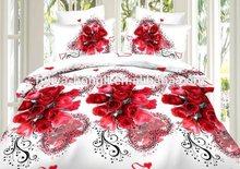 China Alibaba supply king size 3d poly bedsheet