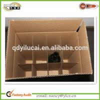 Custom quality corrugated cardboard wine box dividers