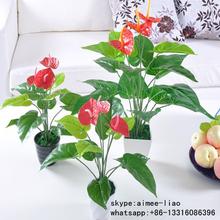 Q092910 all kinds of anthurium flowers plants China wholesale bonsai ornamental artificial plant