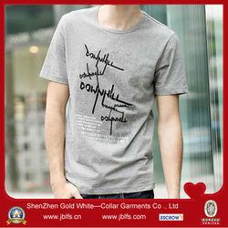 t-shirt korea design customized t shirts mens short sleeve T-shirt