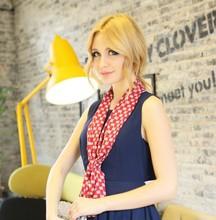 adult thin soft handmade printing polyester satin scarf