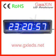 6 digit 2.3inch bedroom use blue digital led timer