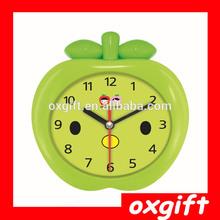 OXGIFT Apple Shape Alarm Desk Table Quartz Clock