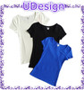 Custom women spandex/cotton slim fitted plain blank short t shirts cheap