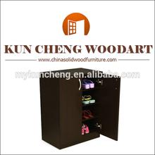 Four Shelf Shoe Cabinet with Two Walnut Cabinet Doors/Shoe rack simple designs