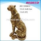 Resin leopard figurine