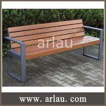 FW217 Outdoor Indoor Wooden Metal Public Seating Bench Seat