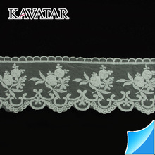 Top quality! Garment accessories Embroidered cotton trim