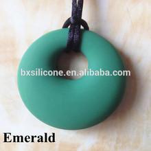 Wholesale China direct factory Chic BPA Free Teething Pendant Emerald,Silicone Teething Pendant Emerald