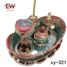 2014 hot sale incense burner set,alibaba age ,poly resin incense bottles