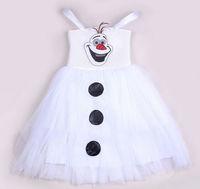 2014 frozen olaf dress for baby,white snow princess designs/dress