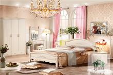 Solid Wood Bedroom Set HA-829# 1.8m bedroom set Malaysia Antique Bedroom Furniture Set
