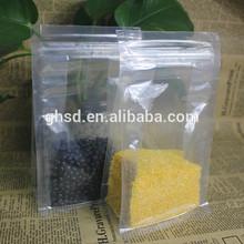 transparent double zip lock bag