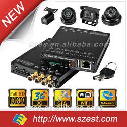 1080P 4ch Wifi GPS Car Camera 3G Police Car/Taxi/Bus /Truck DVR