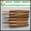 de bambú larga manija ganchos