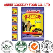 10g*12sachets*60rolls/box nigerian bouillon powder of beef flavor