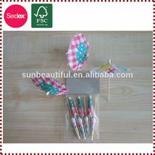 Cocktail Umbrella colorful toothpick