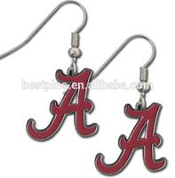NCAA earrings custom made metal jewelry items