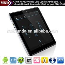 "MTK8389 quad-core big screen 3g sim wcdma gsm 3g tablet pc 9.7"""