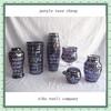 Home Accessories Blown Mosaic Glass Purple Vase Cheap