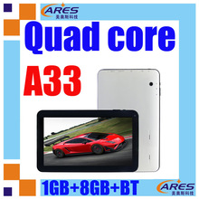 On sale 10inch tablet A33 quad processor Mali 400 MP3 GPU supporting 3D games google play store