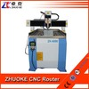 1.5KW spindle, step motor, round guider,china small 3d cnc router machine price 6090 for metal wood acrylic ZK-6090 600*900mm