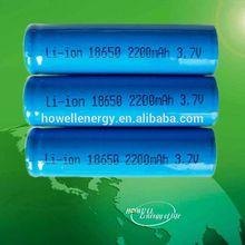 3.7v 2000mah/2200mah/2600mah 18650 li ion battery /portable 18650 battery charger
