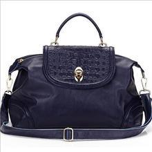 2014 Alibaba china wholesale fashion italian crocodile genuine leather tote shoulder bags for women
