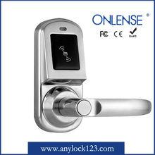sliver color intelligent hotel door lock with free software