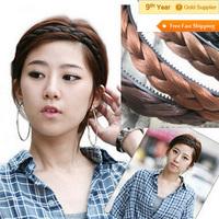 Factory Price Tiara Wholesale Hemp flowers braid Hair band Wig Hair Hoop