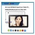 "10.1""inç 16 gb android 4.4 kitkat dört çekirdekli tablet pc mtk8127 HDMI ve bluetooth"