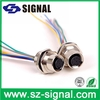 M12 Ip68 8 Pin Female Waterproof Connector with hook-up wires