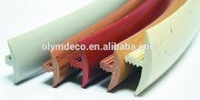 Furniture decors T shape Extrusion Profile PVC edge banding