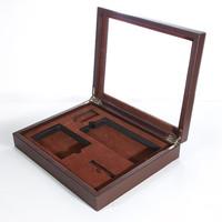 High-grade leather wine bottle packing box/tube Emboss LOGO for Free wine carrier