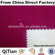 waterproof windproof 100% 196t nylon taslon with pu coating fabrics