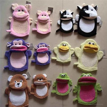 family Parents and children lovely cartoon animal shape bath glove