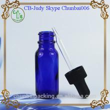 US EDITION cobalt blue dropper glass bottle 15ml with screw cap 18mm neck