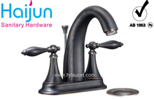 bronze 4'' center double handle faucet with draw bar and panel(83H22-ORB-A)