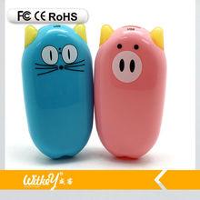 New arrival cartoon power bank 4400mah custom any shape pig and cat