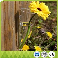 Slanted Hanging clear crystal glass vase